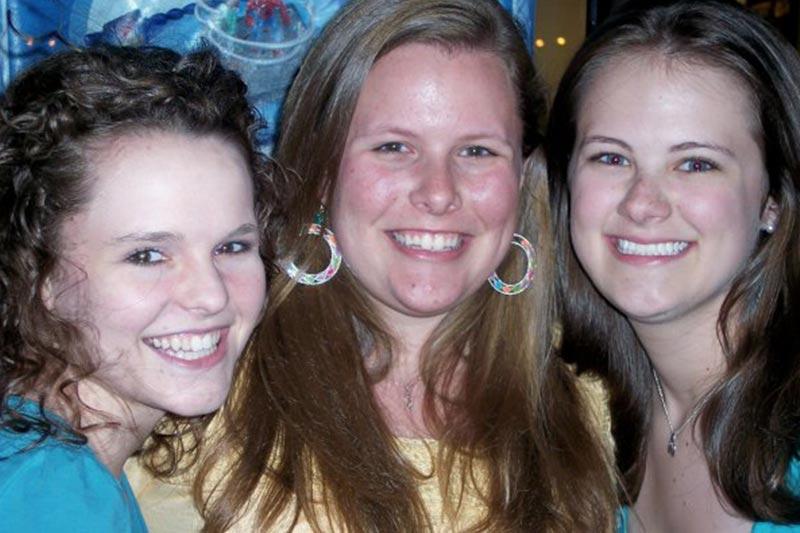 Jennifer, Hannah, and Martha at Maggie Moo's