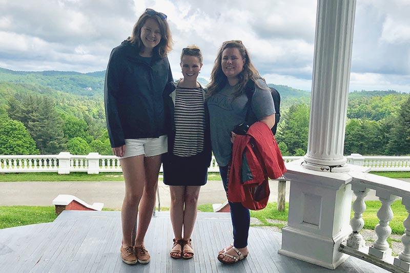 Martha, Jennifer, and Hannah at Moses Cone Manor