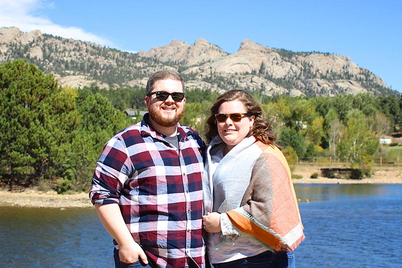 Brandon and Hannah at Lake Estes
