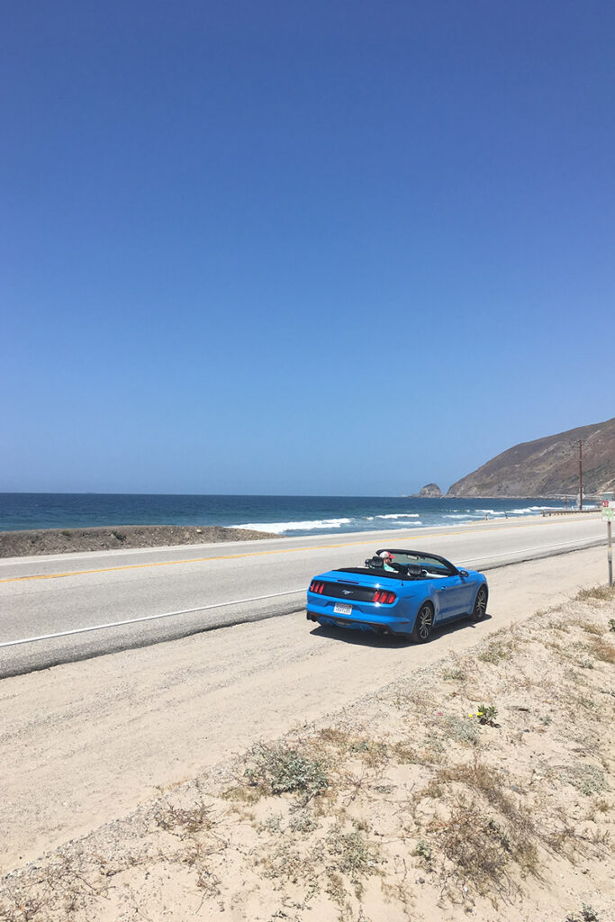 Convertible ride along the Pacific Coast Highway