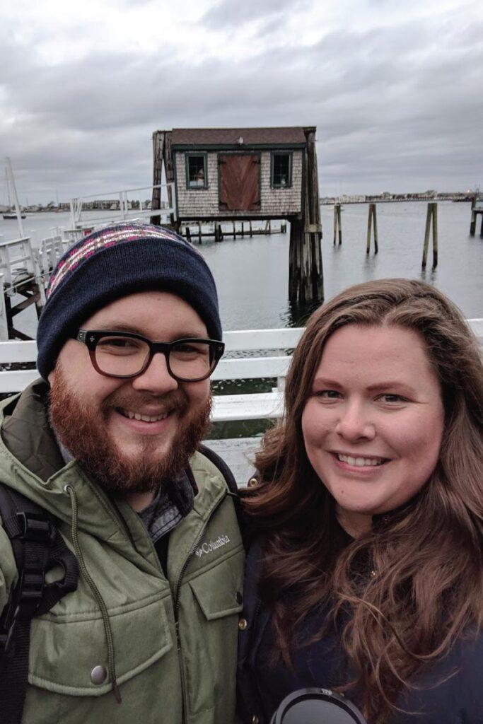 Brandon and Hannah in Newport, Rhode Island