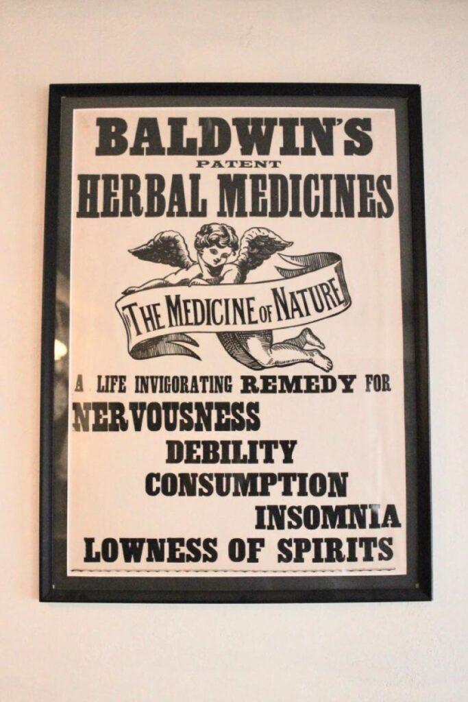 herbal medicine sign