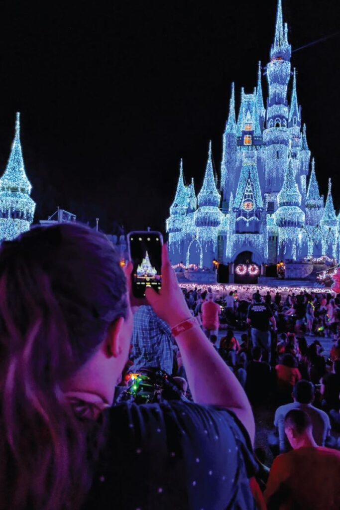 Cinderella's Castle at Mickey's Very Merry Christmas Party