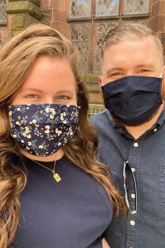 Hannah and Brandon traveling during COVID-19