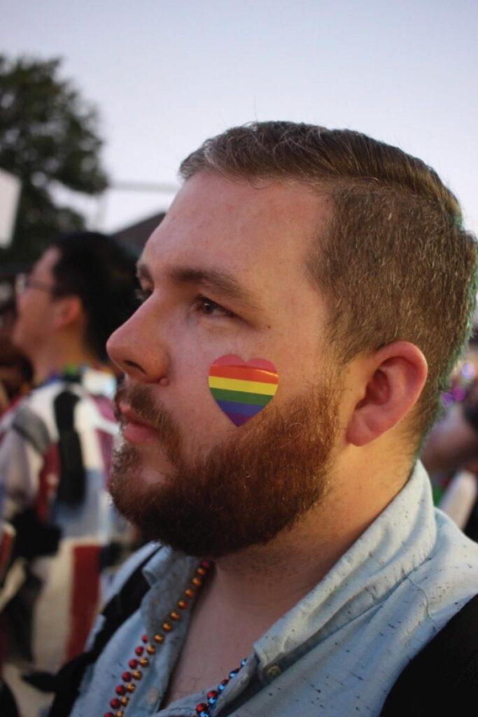 Brandon at the Pride parade