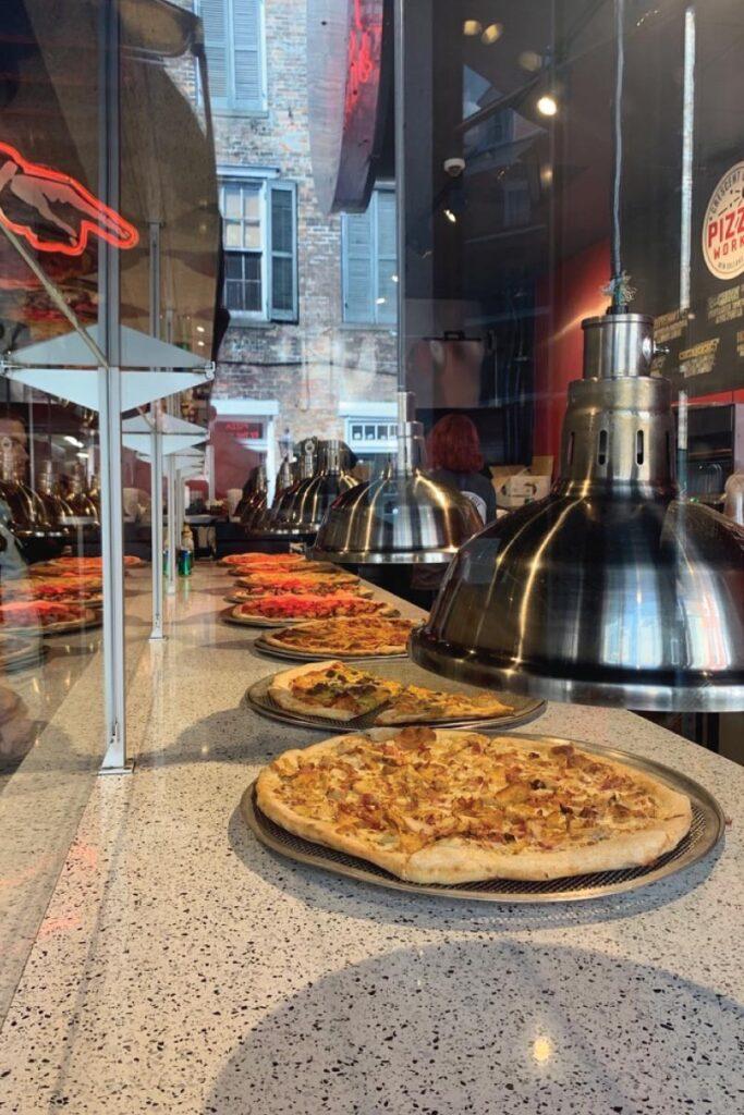 pizza on Bourbon Street
