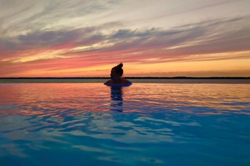 Infinity pool in Erie, Pennsylvania