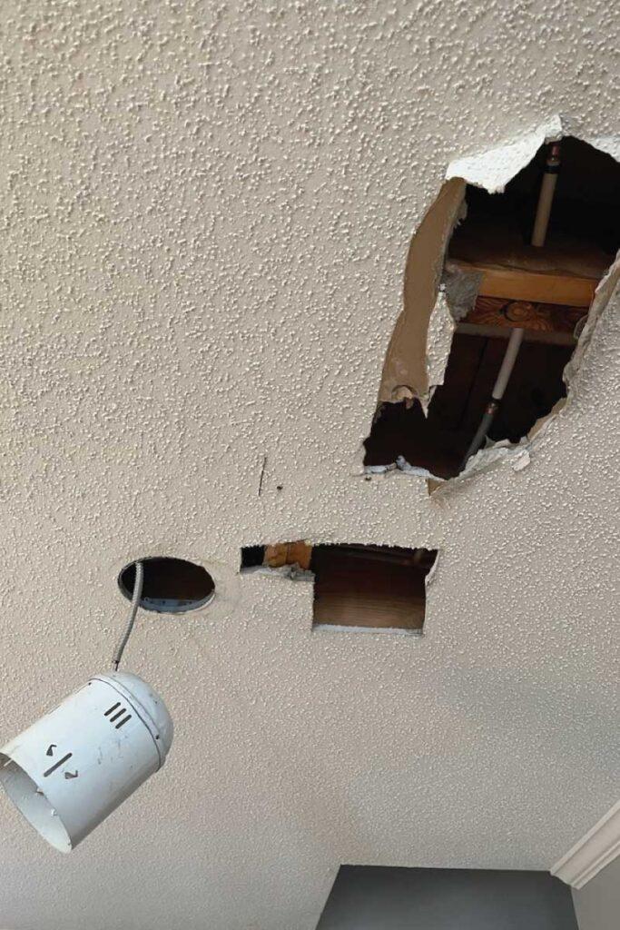 Ceiling home repair