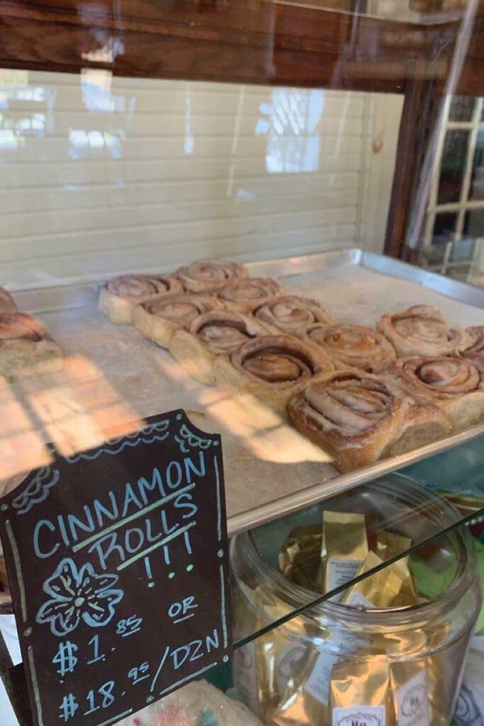 Cinnamon rolls from Harmony House