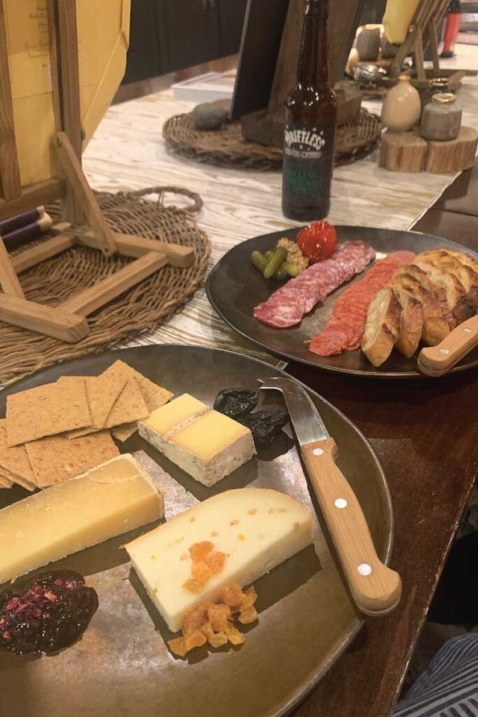 meat and cheese boards at Fromagination in Madison, Wisconsin