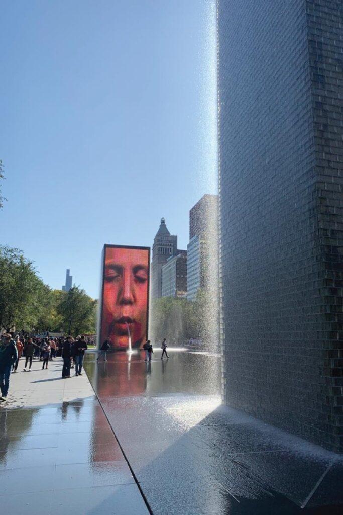 Crown Fountain at Millennium Park in Chicago